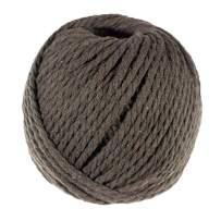 Macrame Cord (Dark Chocolate, 4 MM x 50 Meters) - Soft Twine
