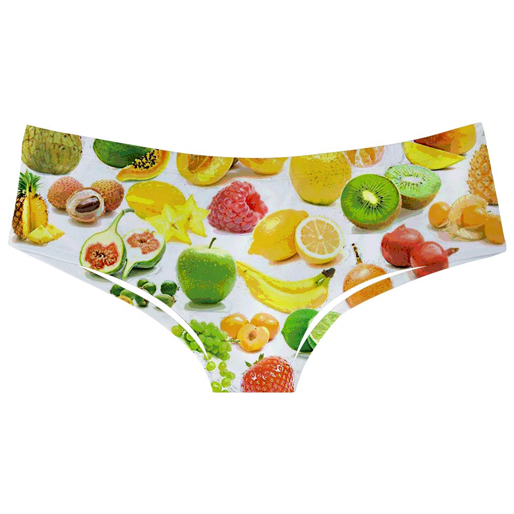 TUONROAD 3D Printed Cute Funny Naughty Underwears Briefs Sexy Flirty Panties Gifts for Women Girls