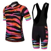 MILOTO Women's Cycling Jersey Black Bib Shorts Set Quick Dry Riding Kits
