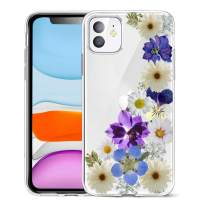 Unov Case Clear with Design for iPhone 11 Case Slim Protective Soft TPU Bumper Embossed Pattern Cover 6.1 Inch (Flower Blossom)