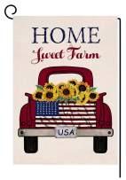 Farmhouse Sunflower Truck Small Garden Flag Vertical Double Sided 12.5 x 18 Inch Summer Fall Burlap Yard Outdoor Decor