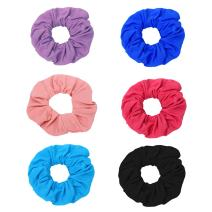 ACCGLORY Cotton Headbands and Scrunchies Set for Women Elastic Head Loop and Soft Ponytail Holder Ties Hair Accessories