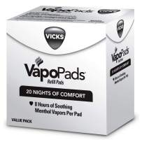 Vicks VapoPads Original Menthol Scent 20 Count Menthol Scented Vapor Pad Refills, Vicks VapoPads Aromatic Pads Help Open Sinuses, for Use in Hot Steam Vaporizers and Humidifiers