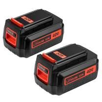 Topbatt 2Pack 40 Volt 2.5Ah Battery for Black and Decker 40V Lithium MAX Battery Replacement LBX2040 LBXR36 LBXR2036 LST540 LCS1240 LBX1540 LST136W