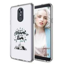 TalkingCase Phone Cover for LG Stylo 5, to Travel is to Live Print, Light Weight, Ultra Flexible, Super Thin, Soft Touch, Photo-Quality Anti-Scratch Printing, Designed and Printed in USA