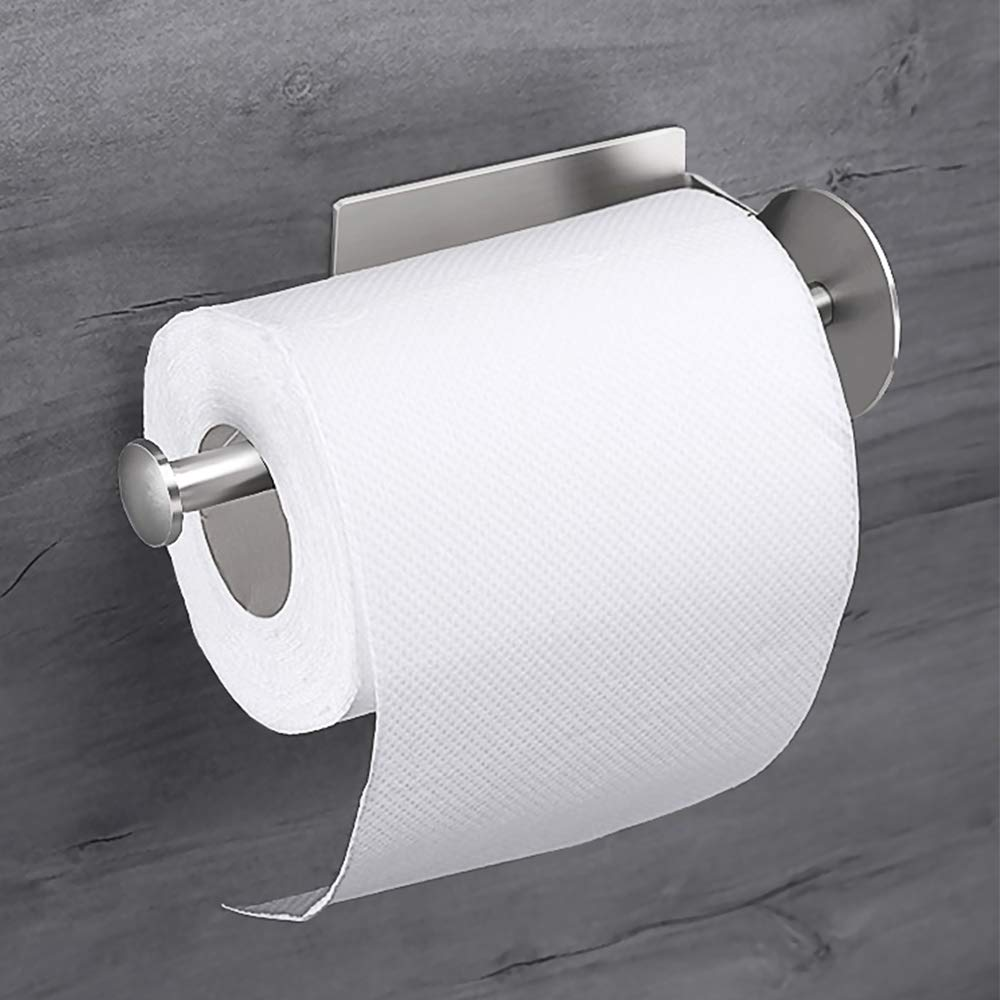 OTHWAY Toilet Paper Roll Holder Self Adhesive Toilet Paper Holder, Wall Toilet Paper Holder, Easy Mounting, Powerful Adhesive Tape, Modern Design, Perfect for Bathroom, Lavatory, Bedroom and RV