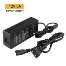 BINZET 12V 5A 60W AC DC Power Supply Adapter, AC 100-240V to DC 12V Transformers Power Converter LED Driver for DC12V LED Strip Lights Wireless Router, ADSL Cats, Security Cameras