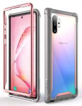 i-Blason Ares Clear Case for Galaxy Note 10 Plus/Note 10 Plus 5G 2019 Release, Dual Layer Rugged Clear Bumper Case Without Built-in Screen Protector (Pink)
