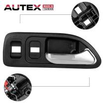 AUTEX Black Interior Front Right Door Handle (RH Passenger Side) Compatible with Honda Accord (4 Door Vehicle Only) 1994 1995 1996 1997 77805, 72125SV4A02ZC, 72125-SV4-A02ZC