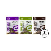 Stryve Keto Protein Snack | Air Dried 100% Beef Biltong Trail Mix | Lighter than Jerky | 20g Protein | Low Carb, Low Sugar with Healthy Fat | Variety Pack | 3 Pack, 2oz Bags