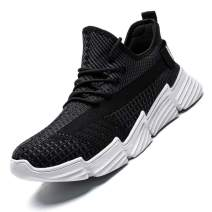 Kapsen Mens Running Shoes Mesh Breathable Sneakers Lightweight Fashion Athletic Gym Shoes Casual Tennis Sport Shoes for Workout Walking