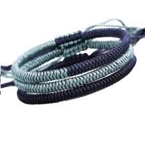 QCQHDU Handmade Rope Tibetan Lucky Friendship Bracelets Protection Charm for Men Women Couple Adjustable Hand-Knitted Woven Braided Rope Bracelets Gifts&Boys