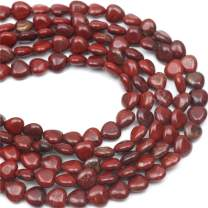 """Oameusa Agate Beads 10mm Heart Red Stone Beads Round Beads Gemstone Beads Loose Beads Accessories Agate Beads for Jewelry Making 15"""" 1 Strand per Bag-Wholesale"""