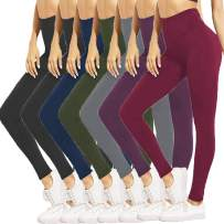 HIGHDAYS High Waisted Leggings for Women - Soft Opaque Pants for Athletic, Workout, Yoga
