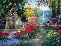 """Cao Yong - Garden Splendor - Limited Edition, Hand-Embellished Giclee Print On Canvas 