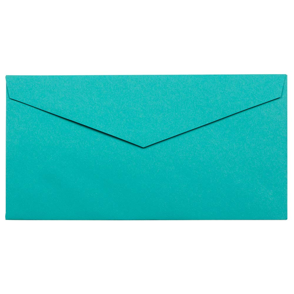 JAM PAPER Monarch Colored Envelopes - 3 7/8 x 7 1/2 - Sea Blue Recycled - 25/Pack