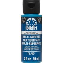 FolkArt Multi Surface Acrylic Paint, 2 oz, Blue Peacock 2 Fl Oz