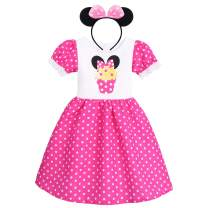 Girls Vintage Polka Dots Christmas Princess Dress Cosplay Fancy Ballet Dance Leotard Tutu Birthday Outfits with Headband