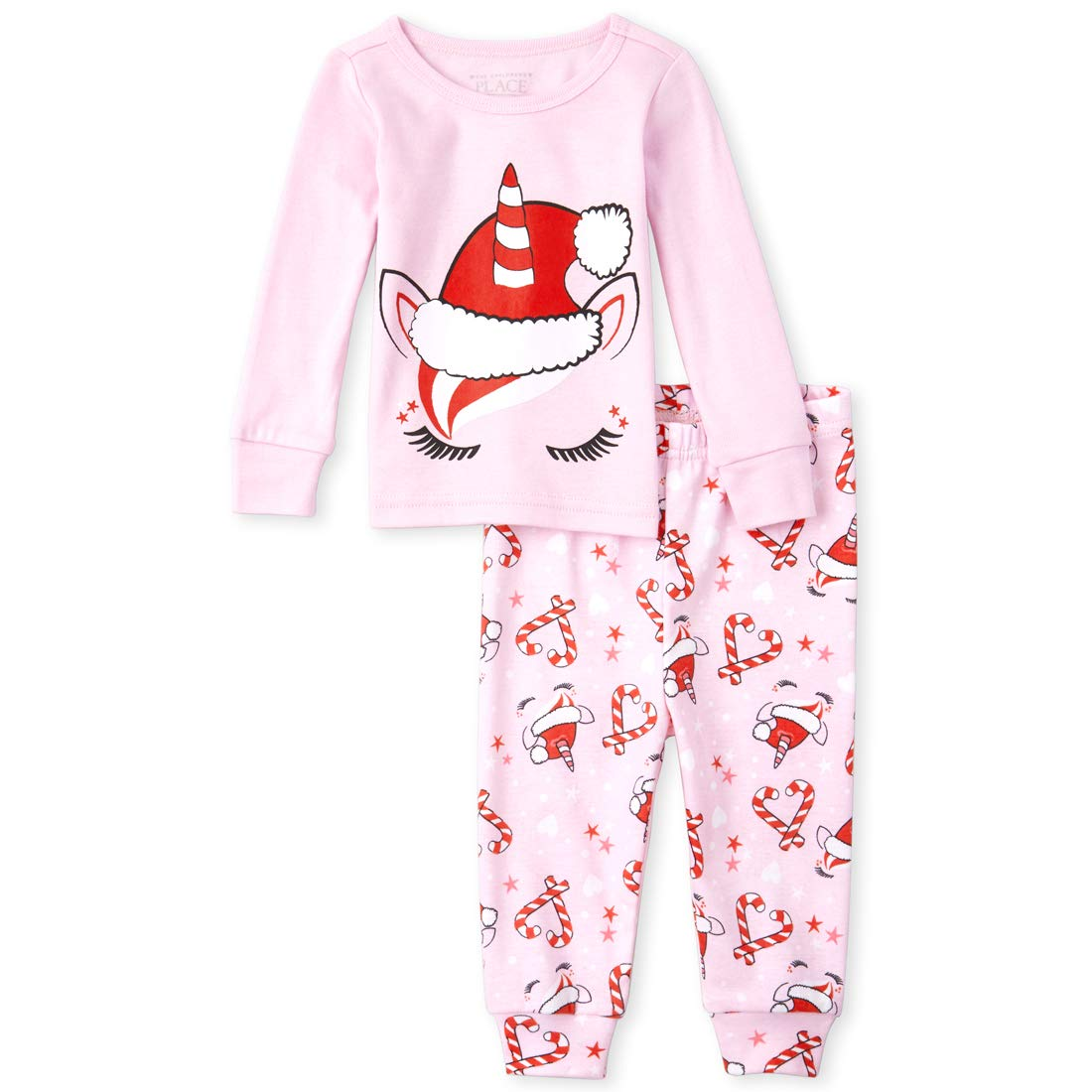 The Children's Place Baby Girls Pajama Set, Pink