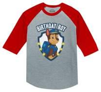 Official Paw Patrol Chase Boys Birthday 3/4 Sleeve Baseball Jersey Toddler Shirt