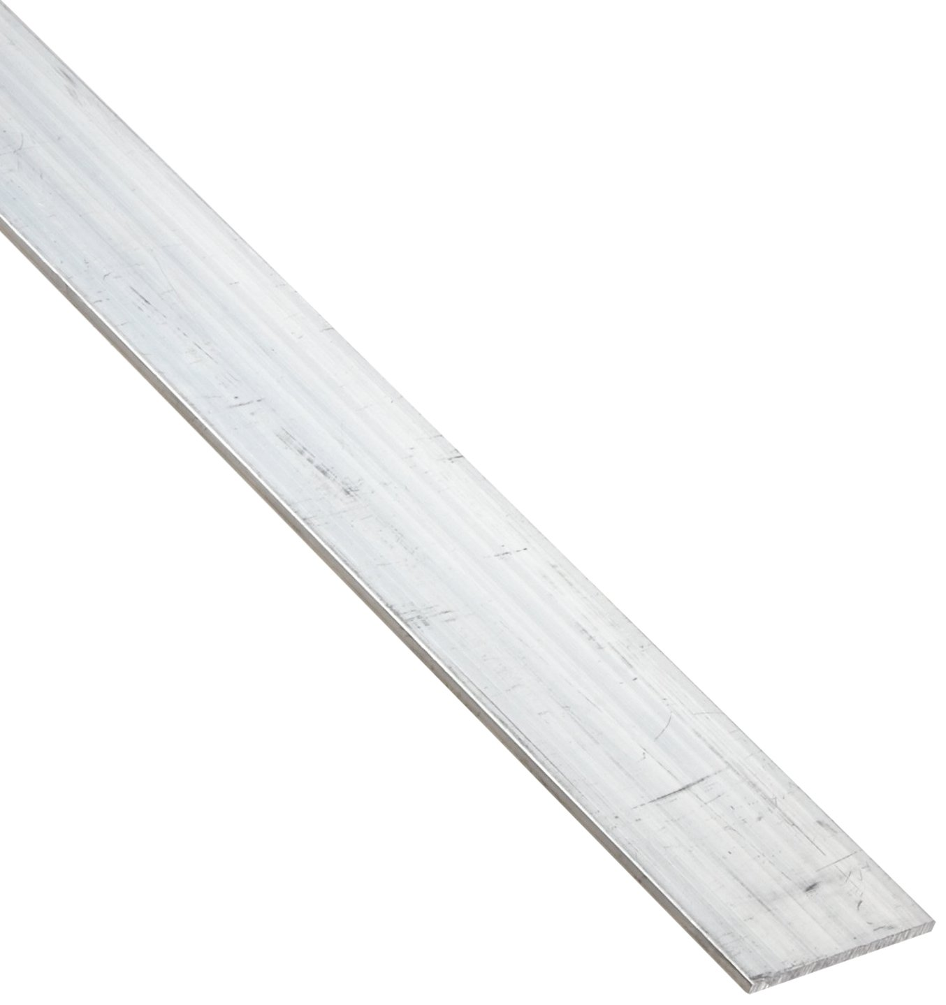 "6061 Aluminum Rectangular Bar, Unpolished (Mill) Finish, T6 Temper, 1/8"" Thickness, .125"" Height,  1"" Width, 60"" Length"