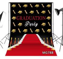 LB 5x7ft Graduation Backdrop for Party Photos 2020 Class Grad Graduation Ceremony Decorations Red Carpet Photo Background for Photography Photo Booth Studio Props