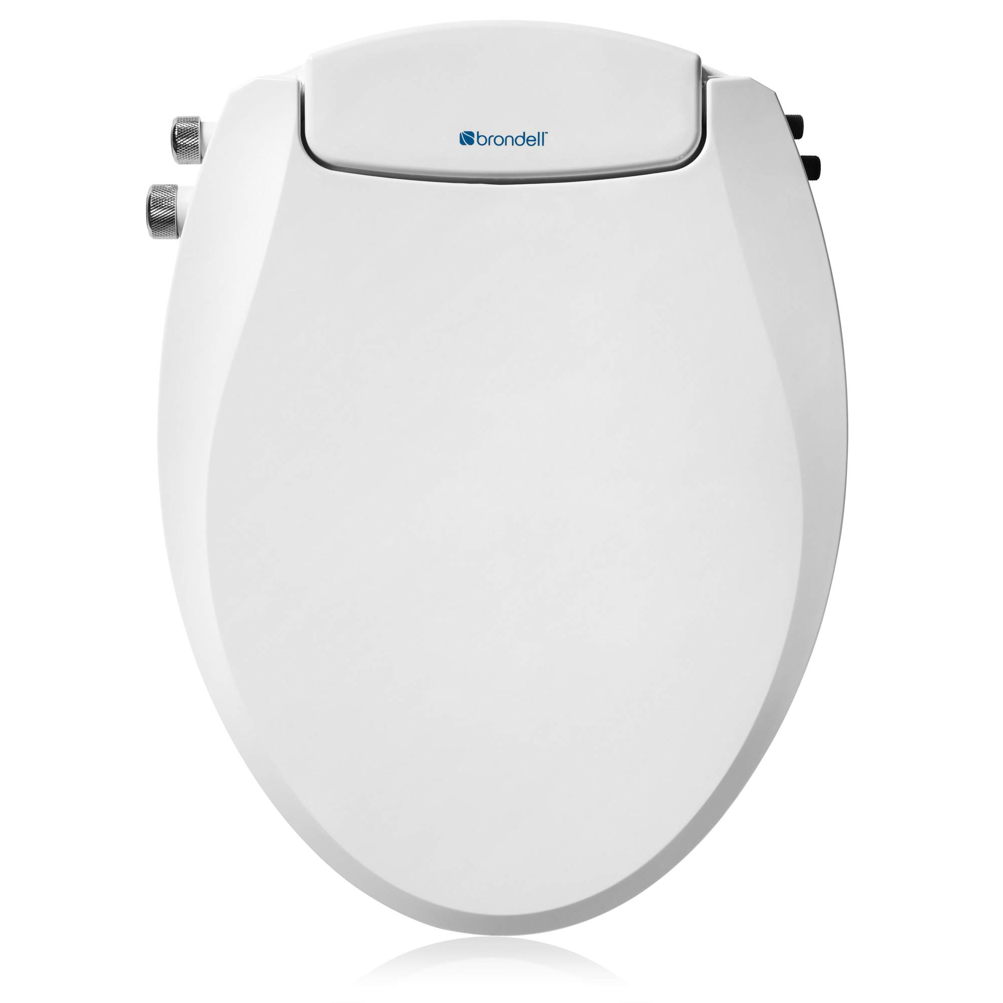 Brondell Swash Non-Electric Bidet Toilet Seat, Dual Temperature, Fits Round Toilets, White – Dual Nozzle System – Bidet with Easy Installation