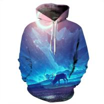 NEWCOSPLAY Unisex Novelty Hooded Sweatshirts 3D Printed Hoodies Colorful Pattern 132 (XXL/XXXL)