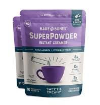 Bare Bones SuperPowder Instant Coffee Creamer, Sweet and Creamy, Sugar-Free, Soy-Free, Gluten-Free, Keto & Paleo Friendly, 8g Protein, 0.88oz, Pack of 20