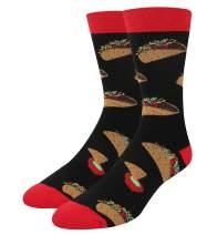 Zmart Men's Beer Sushi Donuts Taco Eggs Socks Gift, Novelty Funny Food Design