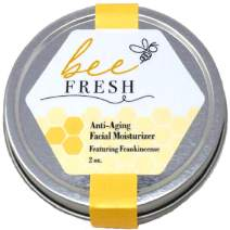 Bee Fresh - 100% Natural Face & Neck Moisturizer/Balm with beeswax - Keeps Skin Naturally Young - Makeup Remover - Fuller Eyelashes- Featuring Frankincense & Jojoba Oil - Made in the USA, Woman-Owned