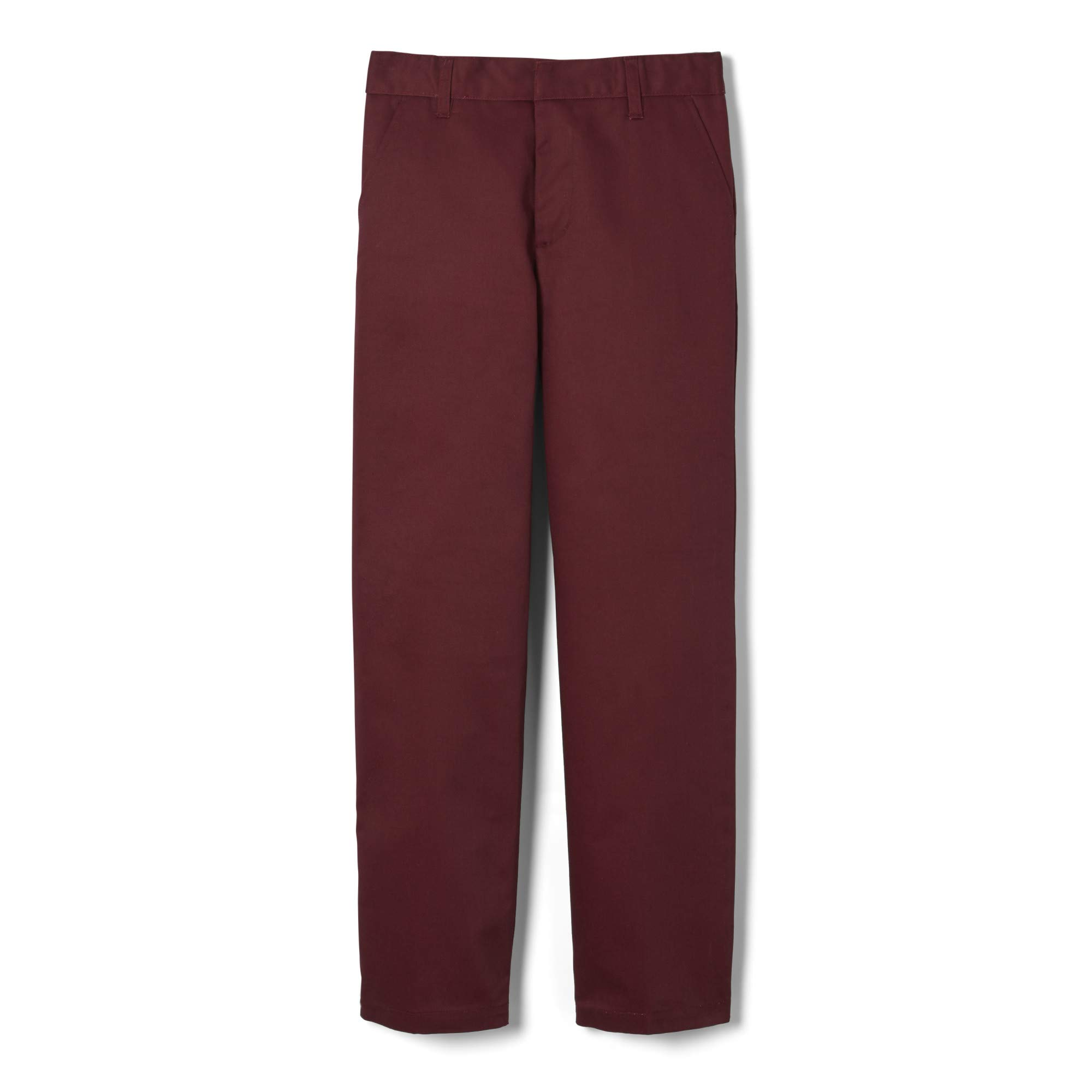 French Toast Boys' Adjustable Waist Work Wear Finish Relaxed Fit Pant (Standard & Husky)