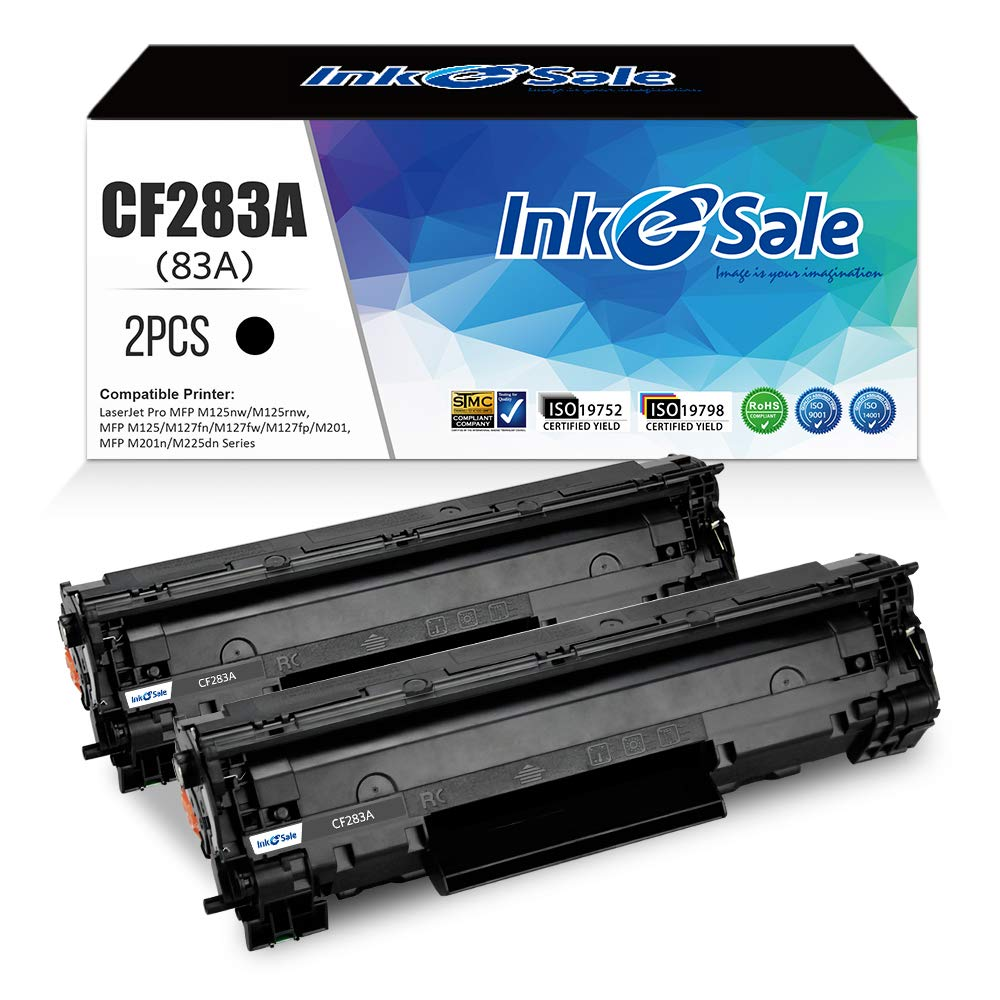 INK E-SALE Compatible CF283A Toner Cartridge Replacement for HP CF283A 83A for use in HP LaserJet pro MFP M225dn M225dw M127fw M127fn M201dw M201n M125nw M125a (2 Packs, Black)