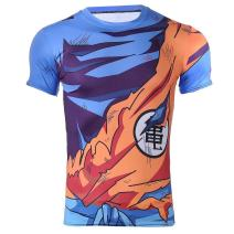 Cosplay Life Dragon Ball Z T-Shirts DBZ Vegeta Men's Crew Neck Gym Cosplay Costume Casual Muscle Fit