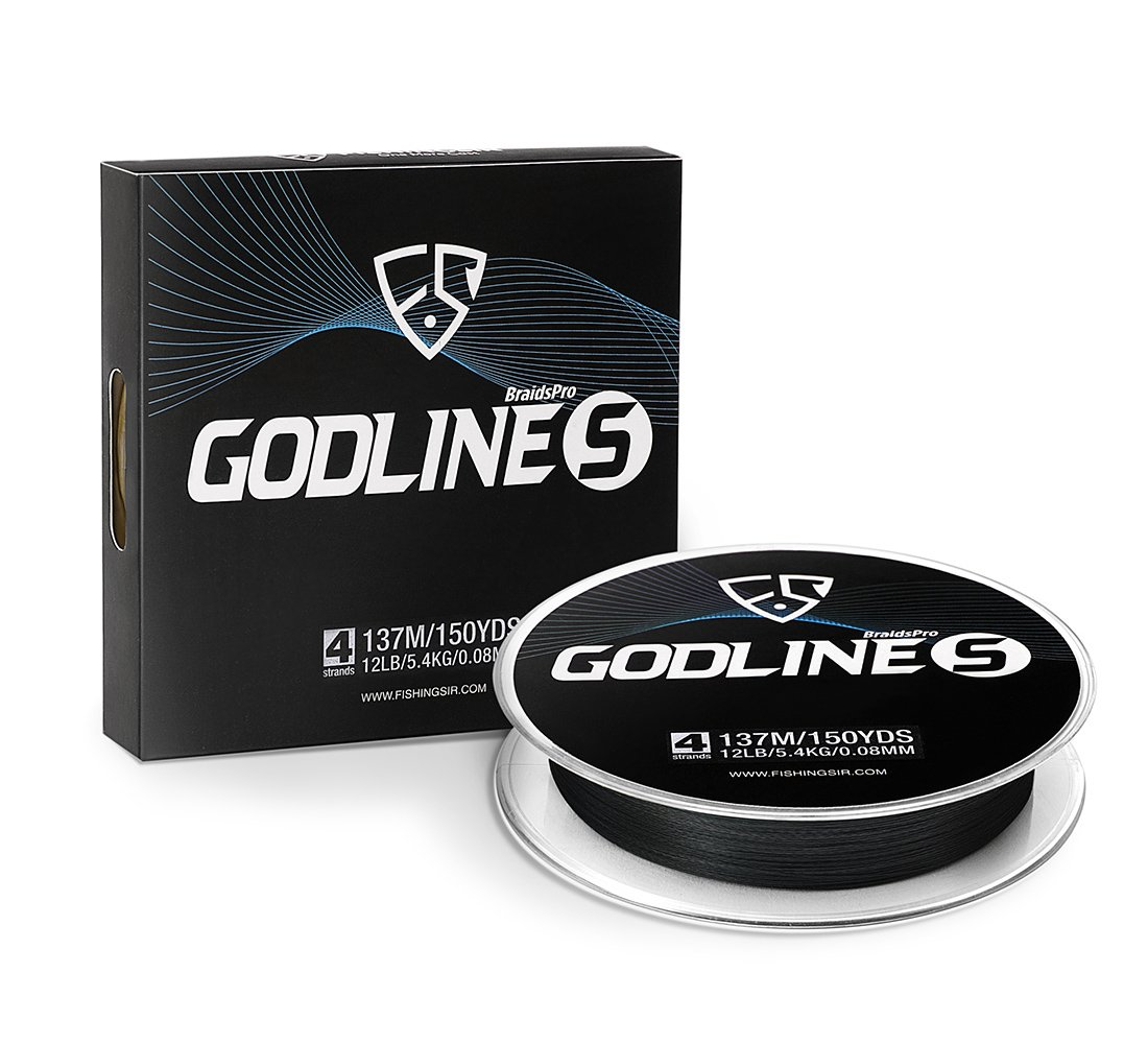 FISHINGSIR Godline S Improved Braided Fishing Line Abrasion Resistant SuperLine - 30% Thinner Smoother Stronger 150-1094Yds, 0.06-0.35mm, 7LB-65LB