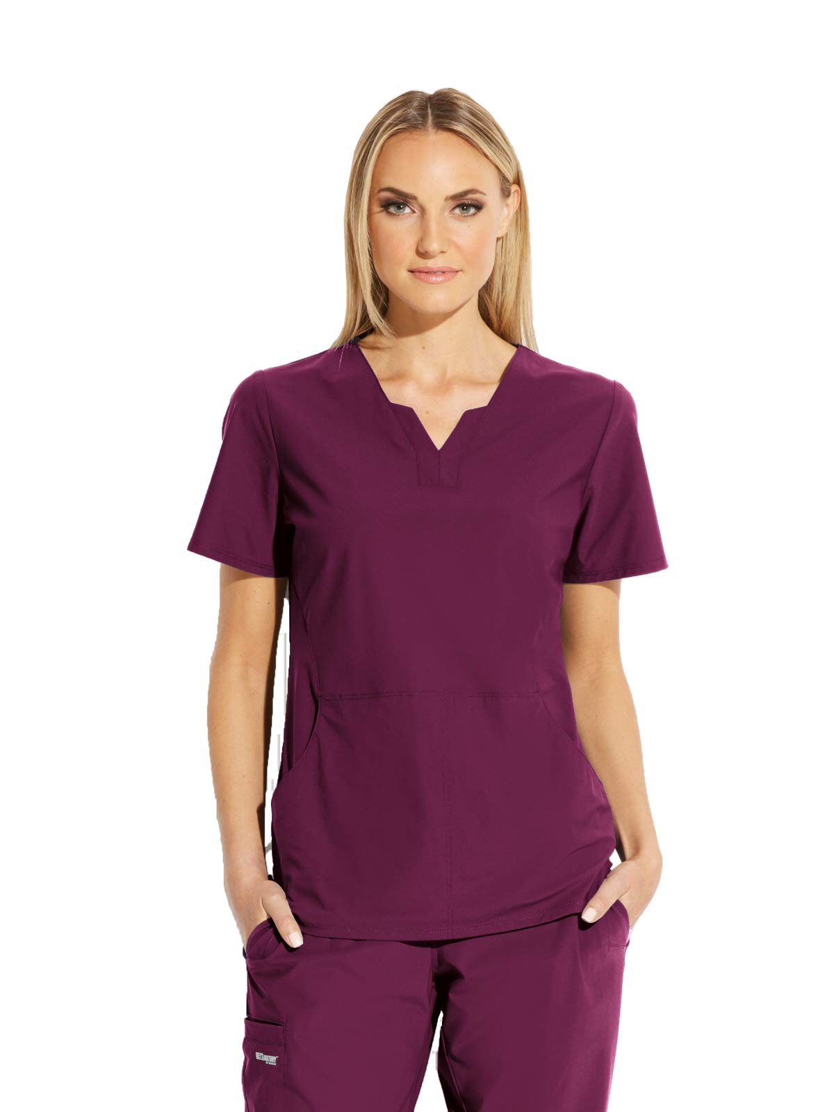 Grey's Anatomy Edge Axis Top for Women – Wrinkle Recovery Medical Scrub Top