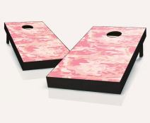 Tailgating Pros Pink Camo Cornhole Boards with Set of 8 Cornhole Bags