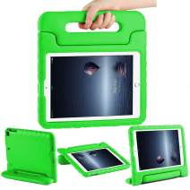 CAM-ULATA Case for iPad 9.7 inch 2018/2017 for Kids 5th Generation 6th Generation Folio Shockproof Corner Protection Lightweight Cover for iPad Air 1 iPad Air 2 Kid Proof Green