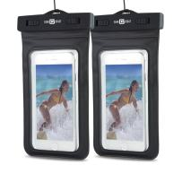 Protective Cell Phone Case Dry Bag With Full Touchscreen Functionality (2 Pack) IPX8 Certified Sealed Pouch Keeps Phone Clean, Dry and Protected, Compatible with iPhone, Galaxy and Most Phones