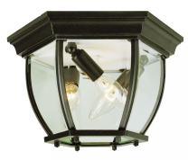 "Trans Globe Lighting 4906 SWI Outdoor Angelus 6.5"" Flushmount Lantern, Swedish Iron"