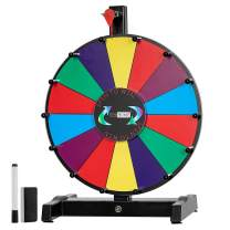 VIVOHOME 12 Inch/ 24 Inch Spinning Prize Wheel Tabletop 14 Color Slots with Dry Erase Marker and Eraser for Trade Show Carnival Fundraiser