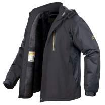MANSDOUR Men's Ski Jacket Winter Warm Snow Coat Waterproof Fleece Outdoor Windbreaker Hooded Snowboarding Jacket