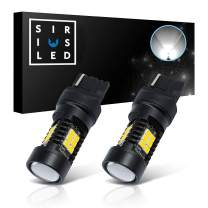 SIRIUSLED Extremely Bright 35W 2835 Chipset 21 SMD LED Bulbs with Projector for Car Fog Lights Daytime Running DRL Turn Signal Brake Tail Lights 7440 7441 Pure White