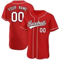 Custom Embroidery Baseball Jerseys Button Down for Men/Women/Kids,Design School Students' Sport Shirt Outdoor