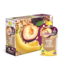 Happy Baby Organic Clearly Crafted Stage 2 Baby Food Bananas, Plums & Granola, 4 Ounce Pouch (Pack of 16)