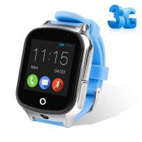 Autopmall GPS Watch Kids GPS Tracker Watch Waterproof IP65 SOS Call Function GPS WiFi LBS Real Time Tracking Health Steps Activity Tracking Boys Girls Gift(Blue)