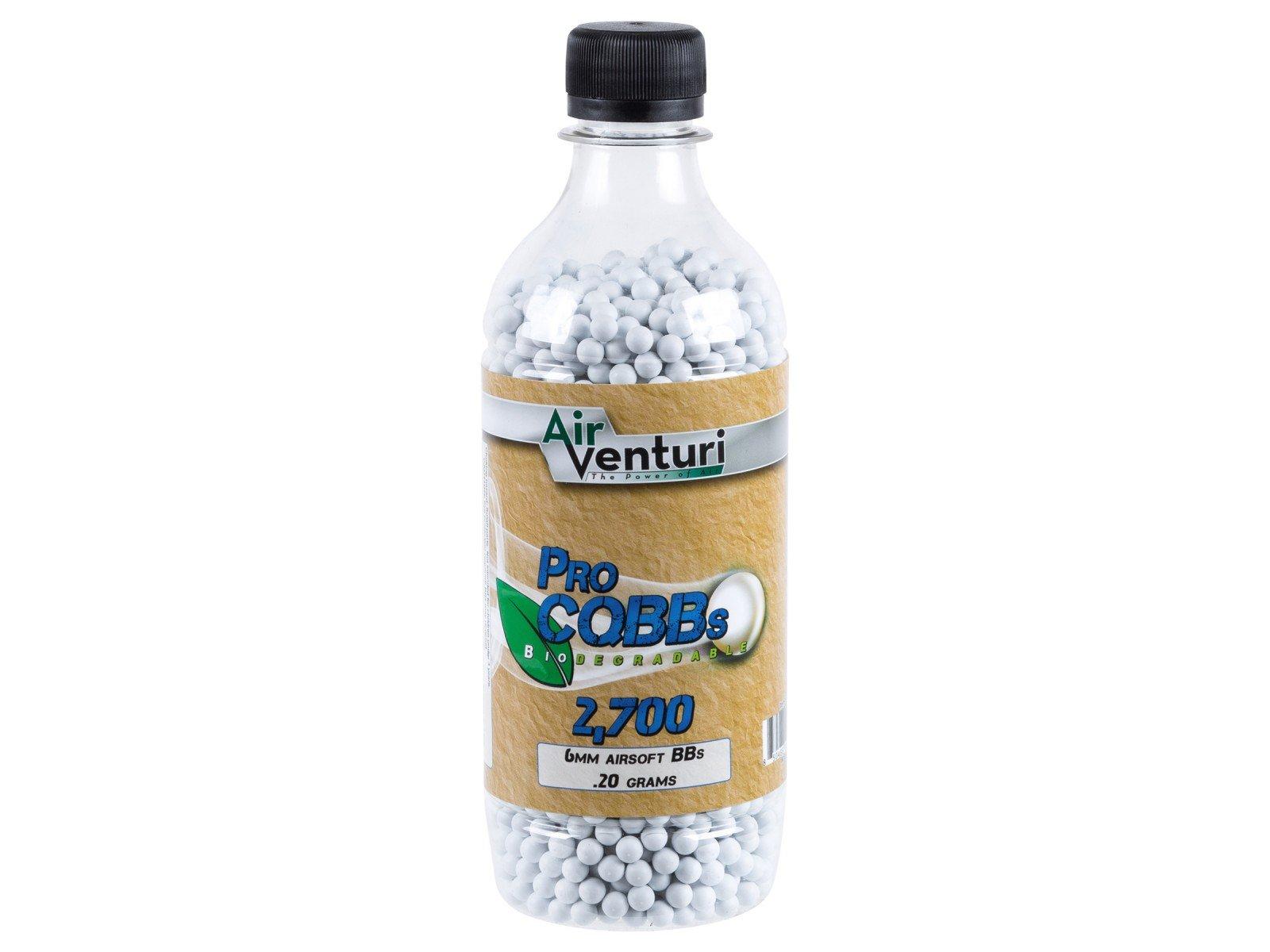 Air Venturi CQBBs 6mm biodegradable airsoft BBs, 0.20g, 2700 rds, white