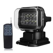 Remote Control Spotlight Search Light Spot Lamp 24v 360º Rotate Omnibearing Remote Control Work Light for ATV SUV Off Road Marine Boat Truck Car Night Use