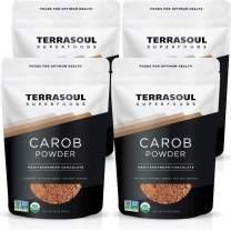 Terrasoul Superfoods Organic Carob Powder, 4 Lbs (4 Pack) - Cocoa Powder Alternative | High in Fiber
