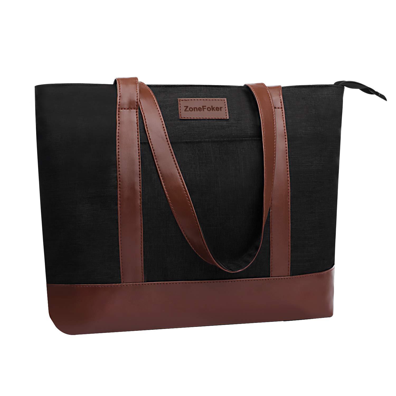 Laptop Tote Bag, Fits 15.6Inch Laptop, Womens Lightweight Water Resistant Nylon Tote Shoulder Bag Teacher Bag